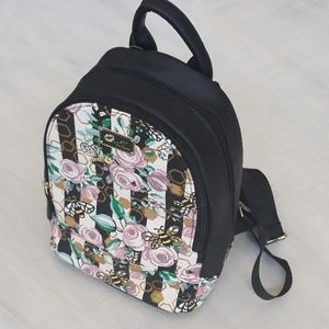 NWT Betsey Johnson mini rose and bees backpack